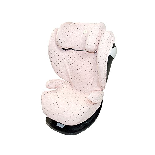 Fundas BCN ® F116/4597 - Funda para Cybex Pallas ®, Solution S ®, M et M-Fix ® - Estampado Little Fun Peach