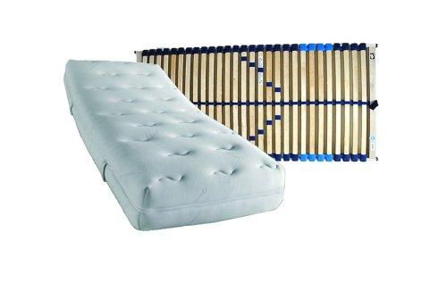 f.a.n. Komfort Plus KS Set bestehend 7-Zonen Kaltschaummatratze in 100 x 200 cm im Härtegrad 3 / H3 Plus Lattenrost Comfort-Flex verstellbar in 100 x 200 cm – sofort lieferbar
