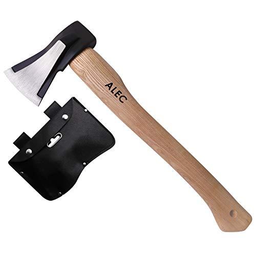ALEC [薪割り 斧/ベルト穴付き専用カバー (ブラック)] 楔型ヘッド [45cm 1Kg ] キャンプ アウトドア