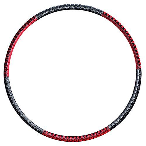 Hula Hoop para adultos Fitness Hoop 6 Secciones de espuma desmontable + Metal grueso 82 cm de diámetro Se puede agregar peso Peso Adelgazamiento Artefacto Fallo de grasa Cintura para adelgazar (rojo n