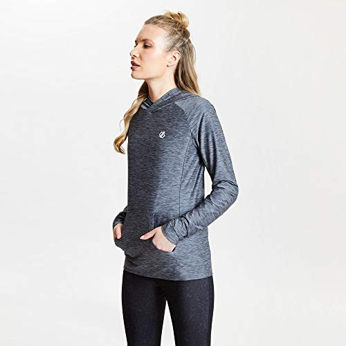 Dare 2b Pull Léger avec Capuche Sprint City Knitwear Femme Ebony Grey FR : M (Taille Fabricant : 12)