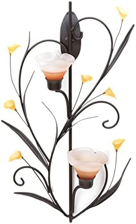 Koehler Home Kitchen Decorative famous Gift Candle Popular shop is the lowest price challenge Wall Amber Lilies Sc