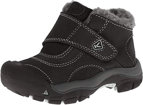 Keen KEEN Kootenay Mädchenschuh Winter Outdoor Halbschuh Leder/Textil Klettverschluss Farbe: Schwarz/Grau, black/natural gray, 38 EU