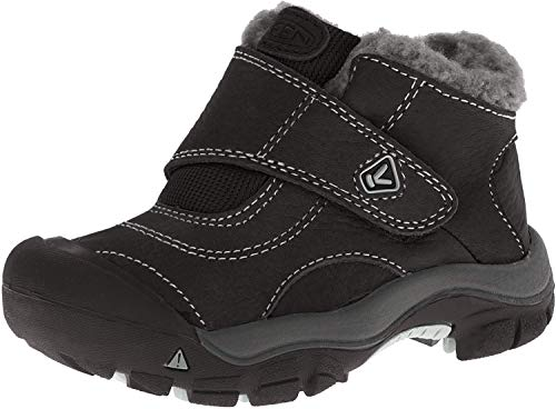 Keen Europe Outdoor BV Keen Kootenay Kinder-Schuh Klettverschluß Winterschuhe, Black/Neutral Grey, 19 EU
