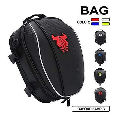 Motorcycle Seat Tail Bag Backpack - Dual Waterproof Luggage Bag Seat Bag Motorbike Saddle Bags Multifunctional Bags?Red)