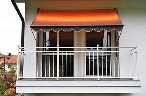 Angerer Exklusiv Klemmmarkise, orange, 250 cm
