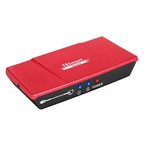 TESmart Splitter HDMI 1 Ingresso 2 Uscita 3D 4K Full HD 2160P Convertitore supporto HDMI UHD HDCP per Blue-Ray Play DVD Proiettore