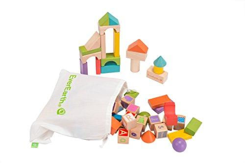 Ever Earth bébés et première infanciajuegos de bloquesever earthconstruir et Apprendre, Ensemble Blocs Multicolore 80 - Version Espagnole
