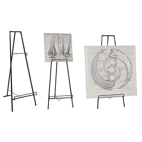 Casablanca Staffelei Loft - aus Metall mit 2 Auflagen für Bilder H 140 cm