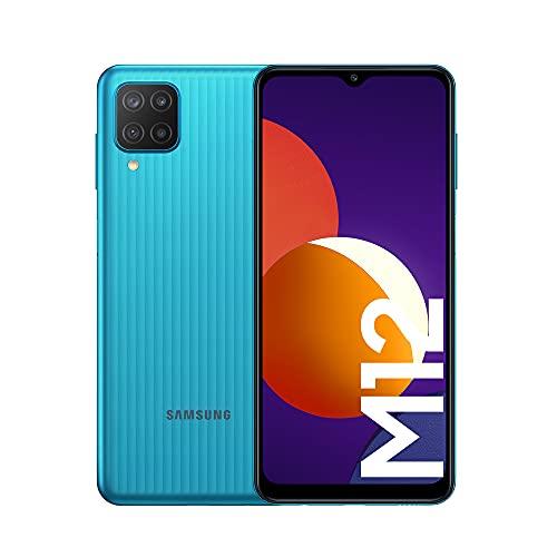 Samsung Smartphone Galaxy℗ M12 con Pantalla Infinity-V TFT LCD de 6,5 Pulgadas, 4 GB de RAM y 64 GB de Memoria Interna Ampliable, Batería de 5000 mAh(miliamperio-hora) y Carga rápida Verde (ES Versión)