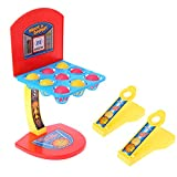 RK-HYTQWR Mini Juguetes de Mesa Tiro de Escritorio Aro de Baloncesto Juego Interactivo para Padres e Hijos Regalo para niños Niños, Baloncesto, Plástico