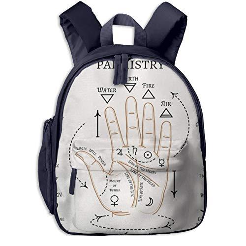 Kinderrucksack Kleinkind Jungen Mädchen Kindergartentasche Handlesen 516 Backpack Schultasche Rucksack