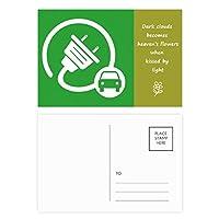 ビッグプラグエネルギー自動車の環境を保護する 詩のポストカードセットサンクスカード郵送側20個
