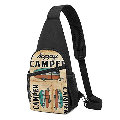 Sling Bolsas para niñas Crossbody Mochila Campered Feliz Hombro Daypacks Rip-Resistant Running Resistencia a las Arrugas Fanny Pecho Packs