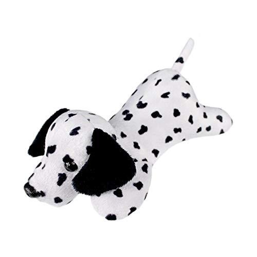 XWYWP Juguetes suaves de peluche de juguete de perros cabeza suave de peluche niños niñas juguetes animales pequeño caniche Bull Terrier Sharpei decoración del hogar juguetes de felpa dálmata