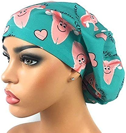 DK Scrub Hats Womens Adjustable Bouffant Scrub Hat Ponytail Surgical Cap At  Your Cervix 804eedc91a47