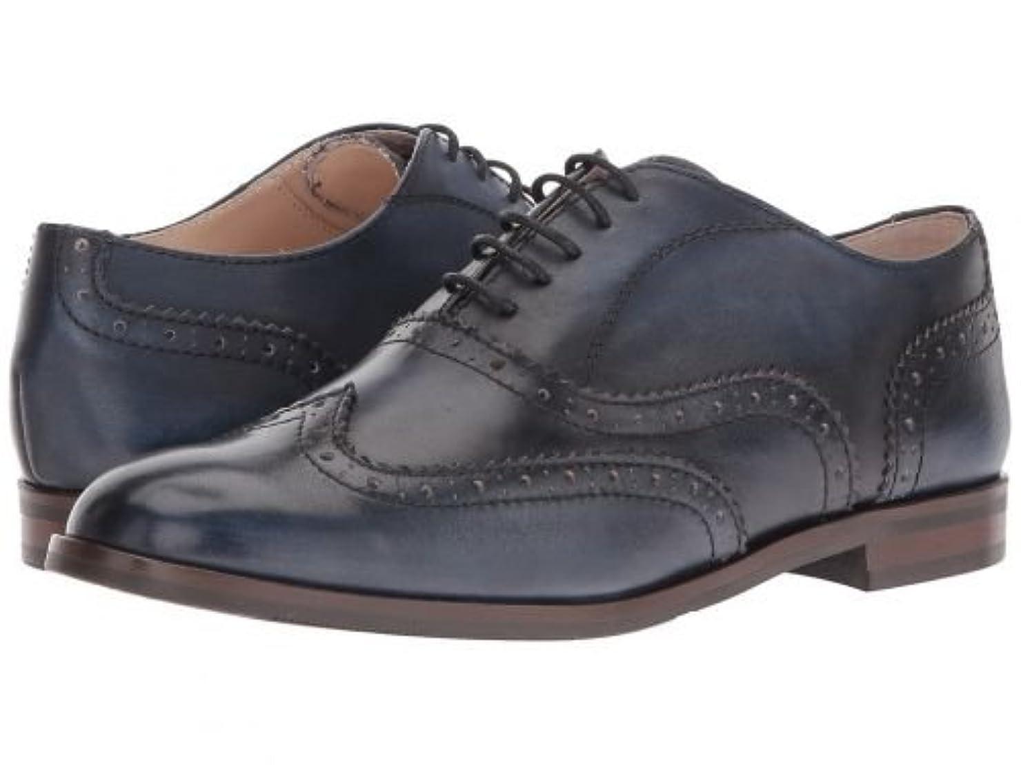 ゴミ翻訳する研究[マッシオマッテオ] レディース 女性用 シューズ 靴 オックスフォード 紳士靴 通勤靴 Oxford Wing Tip - Jeans [並行輸入品]