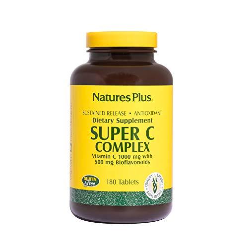 Nature's Plus Super C Complex 1000mg 500mg Bioflavonoide (Tabs) 180 Tabletten S/R (404g)