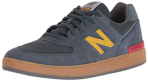 New Balance Men's 574v1 All Coast Skate Shoe, Light Navy/Gum, 6 2E US