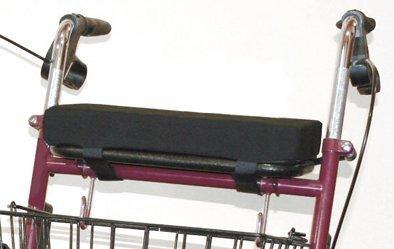 Rollatorkissen 38x20x5 cm Baumwoll-Mischgew. schwarz