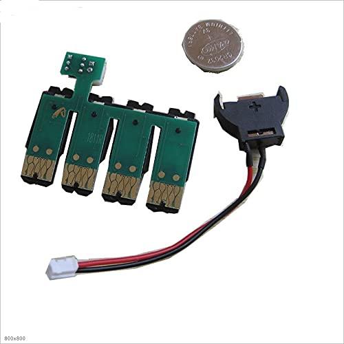 Chip Permanente T1711 ciss para Impresora EPSON Expression Home XP-33 XP-103 XP-203 XP-207 XP-303 XP-306 XP-403 XP-406 XP-313 XP-413