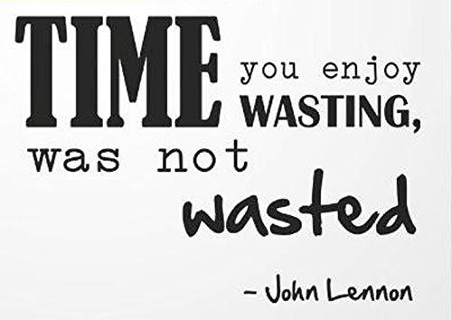 John Lennon \'Time U Enjoy\' Spruch wiederverwendbare Schablone, große Größen, Wanddekoration, moderner Stil / Q50, Widerverwendbare PVC-Schablone, L size - 140 x 200 cm, 55.1 x 78.7 in