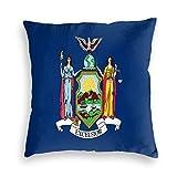 SUN DANCE Funda de cojín decorativa con la bandera del estado de Nueva York para sofá, coche, cama, 50,8 x 50,8 cm