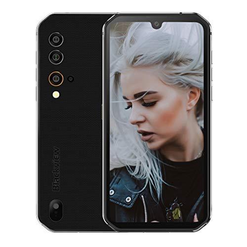 Blackview BV9900E IP68 Smartphone Resistente - 48MP+16MP Cámara, Helio P90 6GB RAM 128GB ROM, Android 10 IP68 Móvil Antigolpes Impermeable,Batería 4380mAh,Carga Inalámbrica NFC GPS Dual SIM Plata