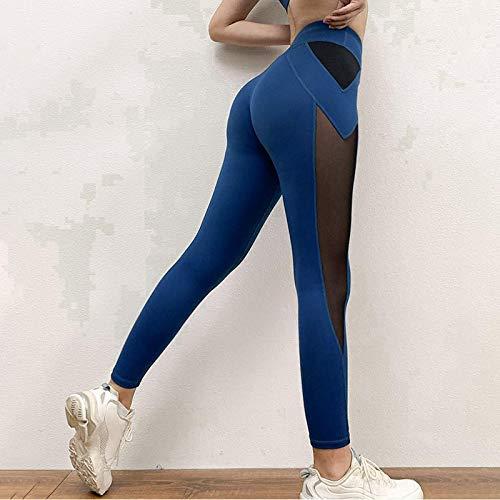Leggings Casuales De MujerSeamless Leggings For Women Casual Mesh Color Block Patchwork High Waist Ankle Length Leggins