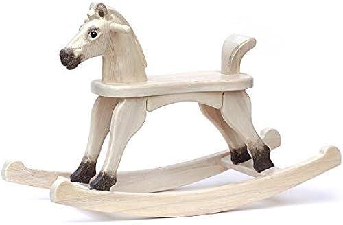 Holzschaukelpferd Spielzeug auf Massivem Holz - Cenda - für Kinder ab 12 Monaten