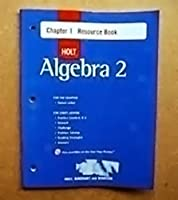 Algebra 2 Chapter 1 Resource Book 0618020098 Book Cover