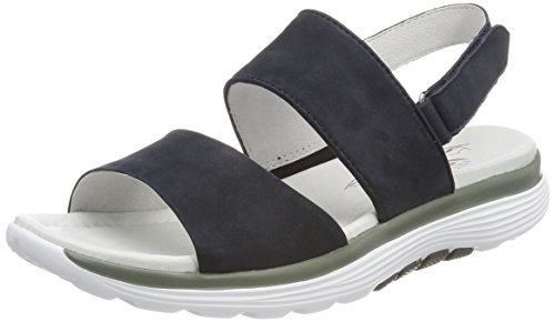 Gabor Shoes Damen Rollingsoft Riemchensandalen, Blau (Nightblue), 37.5 EU