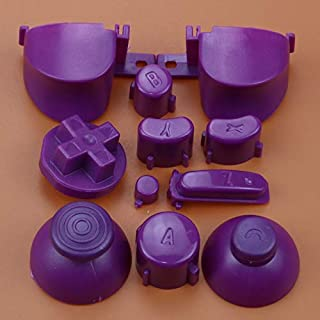 Full Sets A B X Y Z Buttons Direction Key D-pad Mod Button for Gamecube NGC Controller (Purple)