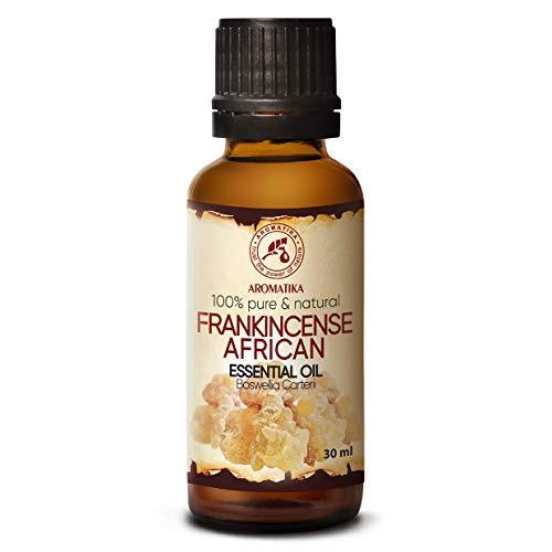 Aceite Esencial de Incienso 30ml - Boswellia Carterii - Incienso Africano para Meditación y Relajación - Aromaterapia - Cuidado del Cuerpo - Bienestar - Difusor de Aceite - Fragancia - Buen Humor