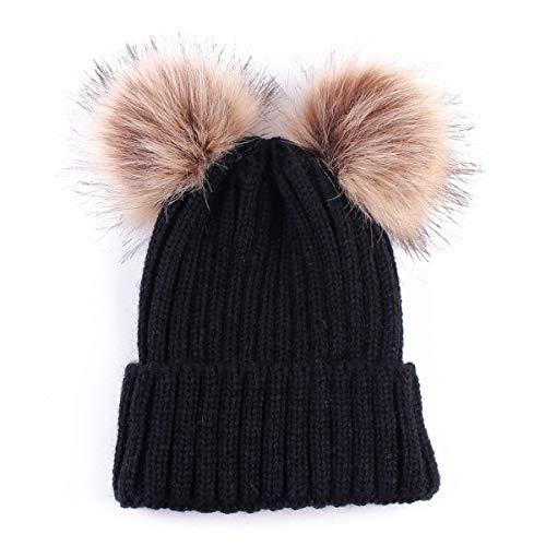 Jinxuny baby gebreide hoed pet winter warme wol baby peuter kinderen haak Beanie Cap nieuwe Pom Furn bal gebreide hoed