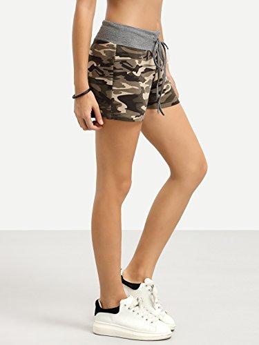 SweatyRocks Workout Yoga Shorts Pants Hot Shorts for Women Camouflage Medium