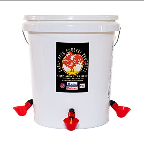 5 Gallon Automatic Poultry Waterer with Automatic Float Valve and Swivel Hose Connector is Best Suited for All Birds to Include Baby chick's