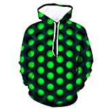 NIUQI Men's 3D Funny Jacket Long Sleeve Hooded Coat Hoodie Blouse Tops
