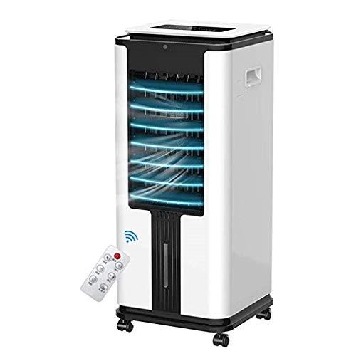 WTTL Air cooler Mobile Klimaanlage, Tragbarer LuftküHler Befeuchtung SuperküHlung 4l GroßEr Wassertank 12 Stunden Timing 3 Geschwindigkeiten (Weiß)
