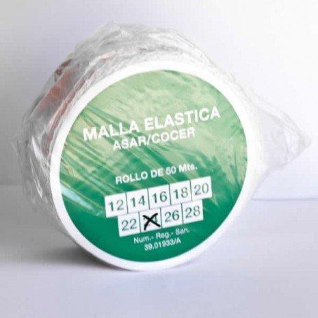 alesframa Malla elástica para Carne, Rollo de 50 Metros (Calibre 24)