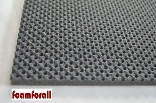 foamforall Dämmmatte, Absorptionsmatte aus hochwertigem, offenzelligem PU-Schaumstoff,geprägt, selbstklebend 2m x 1 m Stärke 20mm