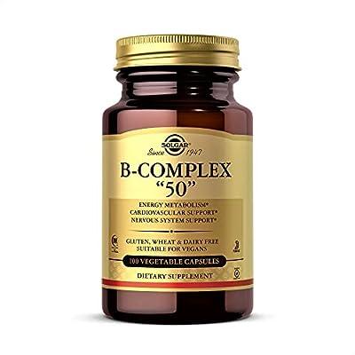 "Solgar Formula Vitamin B-Complex ""50"" Vegetable Capsules - Pack of 100"