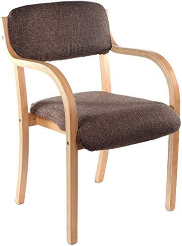 QJY hoge stoel van hout voor de woonkamer Donker bruin