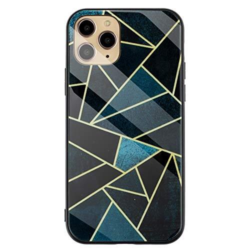 Custodia protettiva per iPhone 12 Pro Max in marmo morbido TPU + vetro Case ultra sottile per iPhone 12 Pro Max (D)