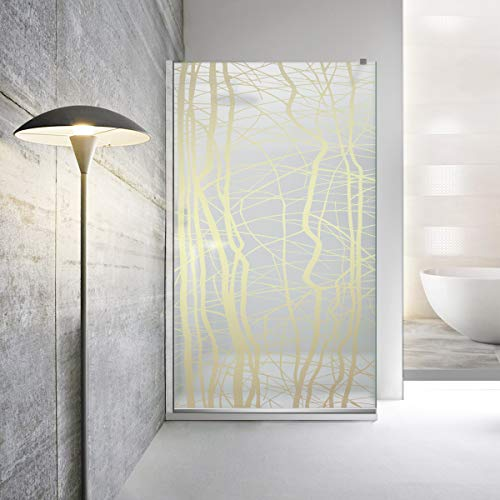 Walk-in Mampara de ducha Leroy Timeless - Manhattan 8 mm vidrio templado satinado de seguridad nano revestido, accesorios de acero inoxidable SS304, de Modern (70 x 195 cm), color dorado