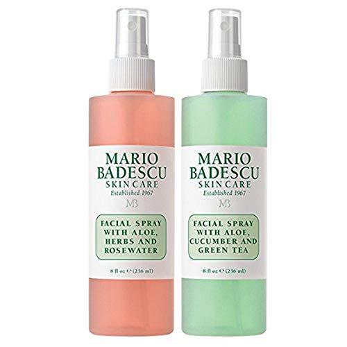 Mario Badescu Facial Spray Herbs/Rosewater and Cucumber/Green Tea, 8 Fl Oz (Pack of 2)