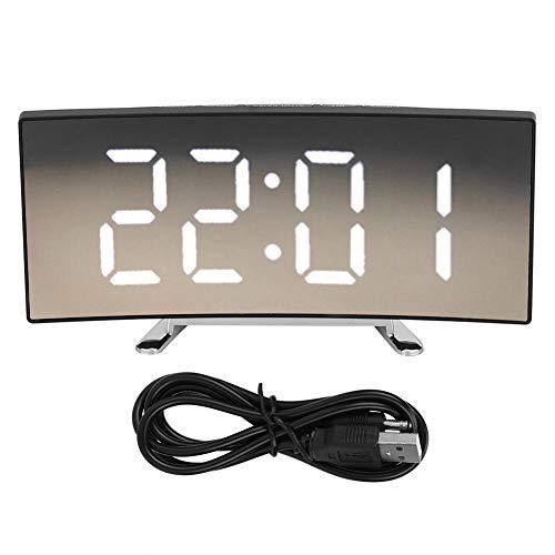 Huishoudelijke Moderne Elektronische Alarm Klok LED Mute Spiegel Klok met Groot Scherm 1 exemplaar