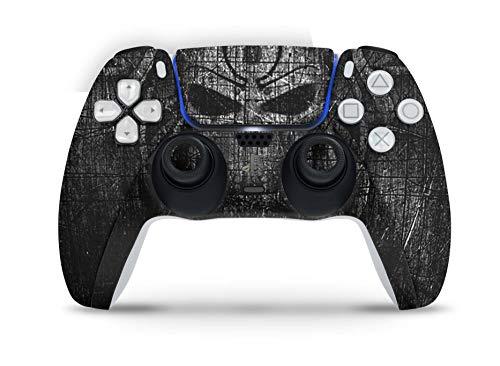 Skins4u Design Aufkleber Skin Wrap Folie für Sony Playstation 5 Controller PS5 DualSense Skins Schutz Folie Black Demon
