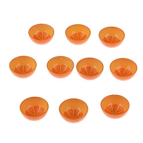 #N/A/a Artesanías Hechas a Mano 1/6 Vajilla 10 Piezas Naranja Cuenco Decoración de Muebles de Casa de Muñecas