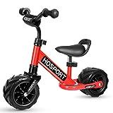 HOSPORT Bicicleta sin Pedales Bicicleta de Equilibrio para Niños de 18 Meses a 3.5 años (Red)